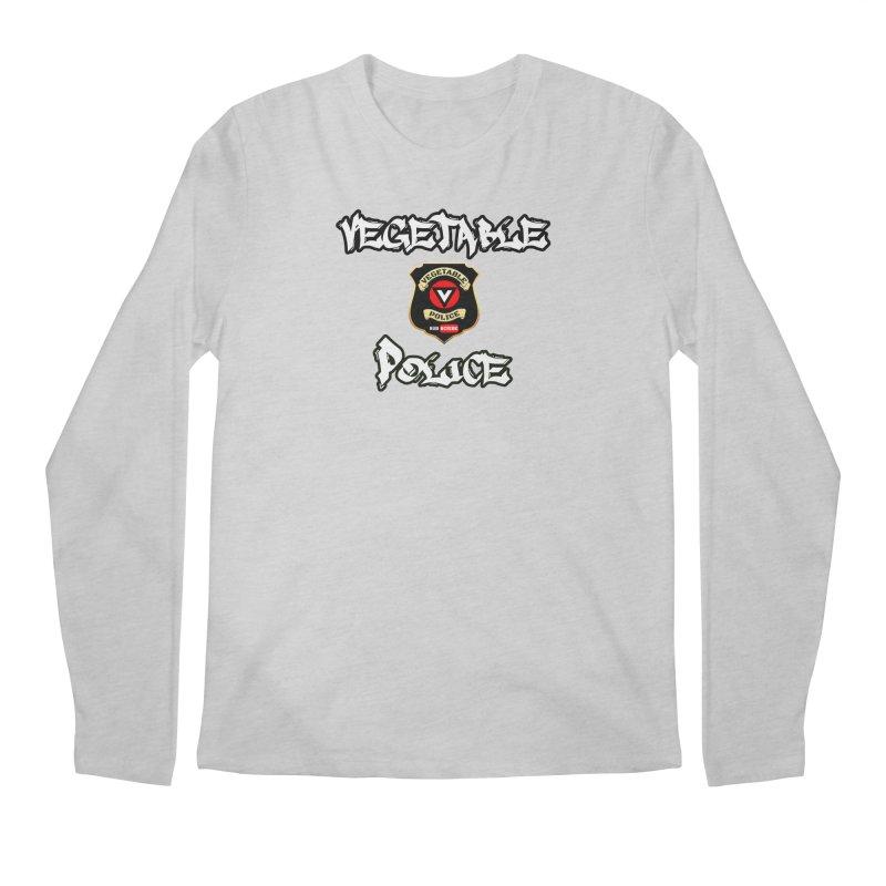 Vegetable Police Undercover (white) Men's Regular Longsleeve T-Shirt by Vegetable Police