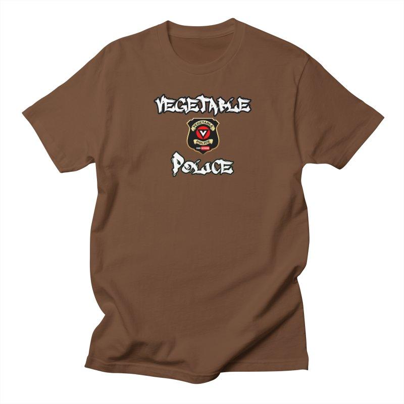 Vegetable Police Undercover (white) Men's Regular T-Shirt by Vegetable Police