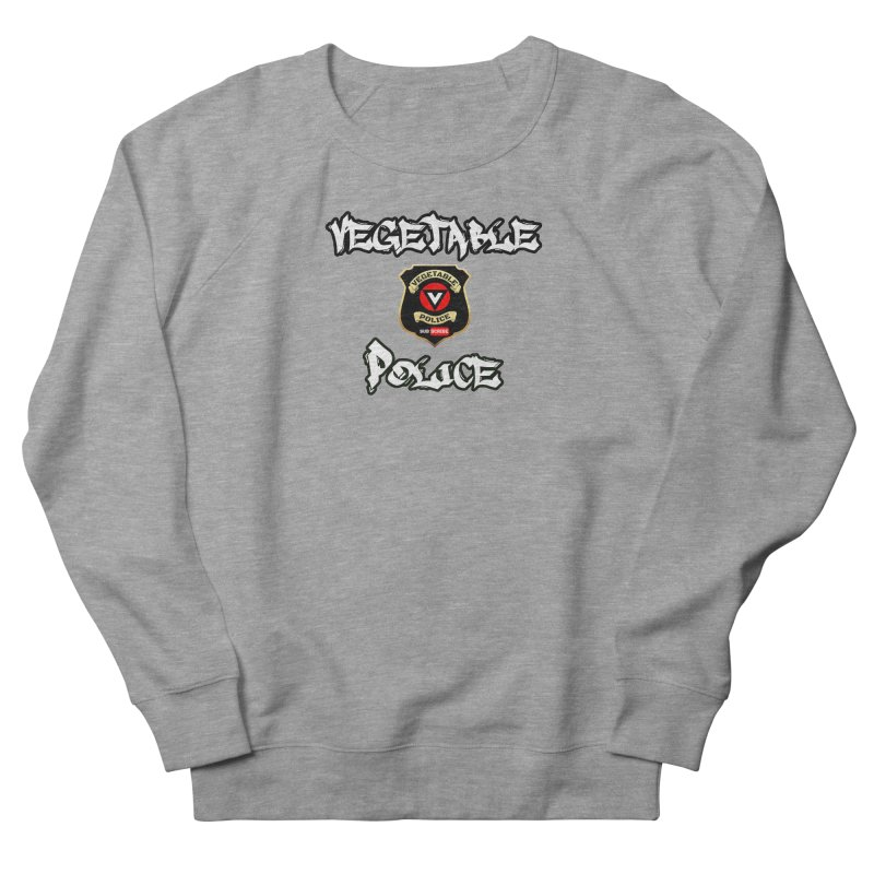 Vegetable Police Undercover (white) Men's French Terry Sweatshirt by Vegetable Police