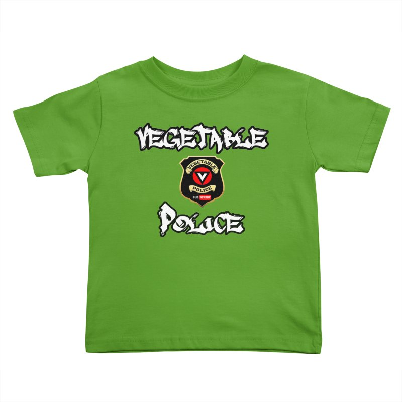 Vegetable Police Undercover (white) Kids Toddler T-Shirt by Vegetable Police