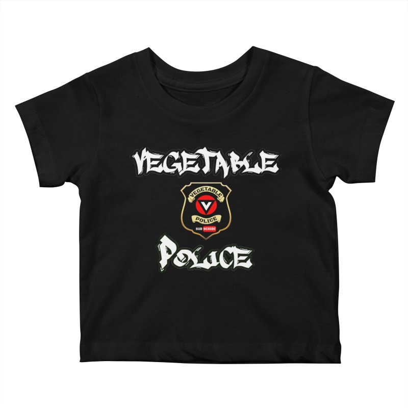 Vegetable Police Undercover (white) Kids Baby T-Shirt by Vegetable Police
