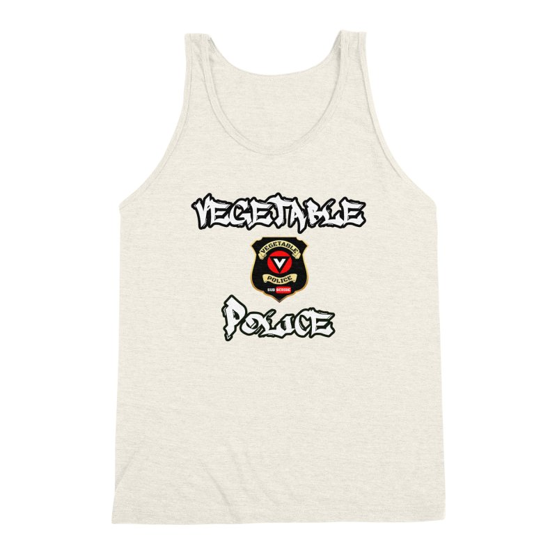Vegetable Police Undercover (white) Men's Triblend Tank by Vegetable Police