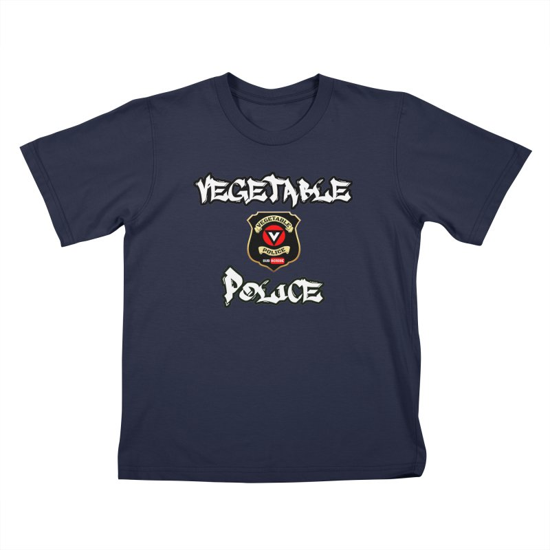 Vegetable Police Undercover (white) Kids T-Shirt by Vegetable Conspiracies