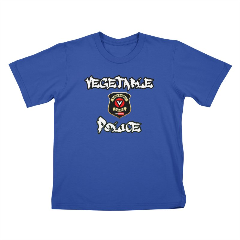 Vegetable Police Undercover (white) Kids T-Shirt by Vegetable Police