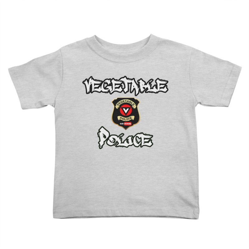 Vegetable Police Undercover (white) Kids Toddler T-Shirt by Vegetable Conspiracies
