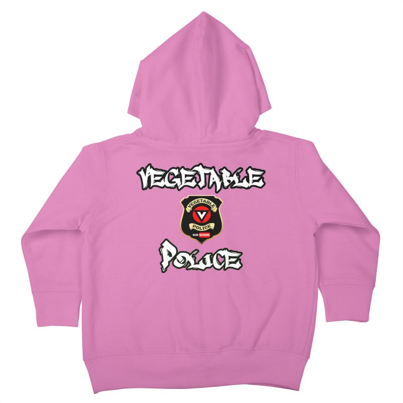 Vegetable Police Undercover (white) Kids Toddler Zip-Up Hoody by Vegetable Police