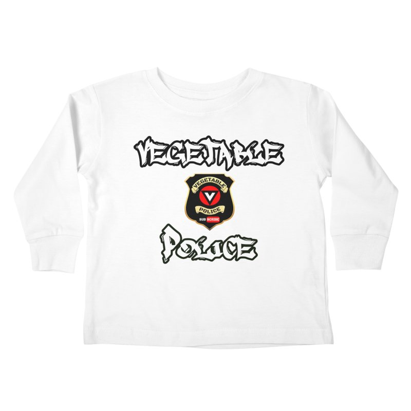 Vegetable Police Undercover (white) Kids Toddler Longsleeve T-Shirt by Vegetable Conspiracies