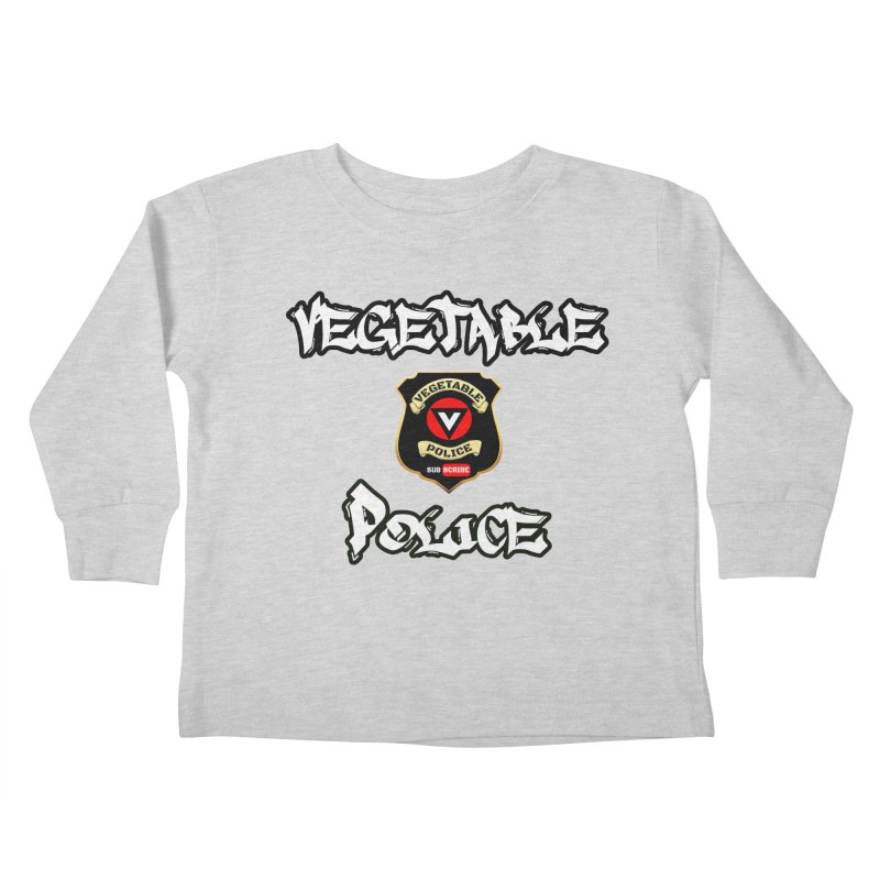 Vegetable Police Undercover (white) Kids Toddler Longsleeve T-Shirt by Vegetable Police