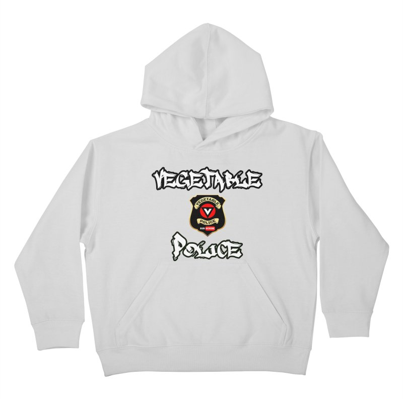Vegetable Police Undercover (white) Kids Pullover Hoody by Vegetable Police