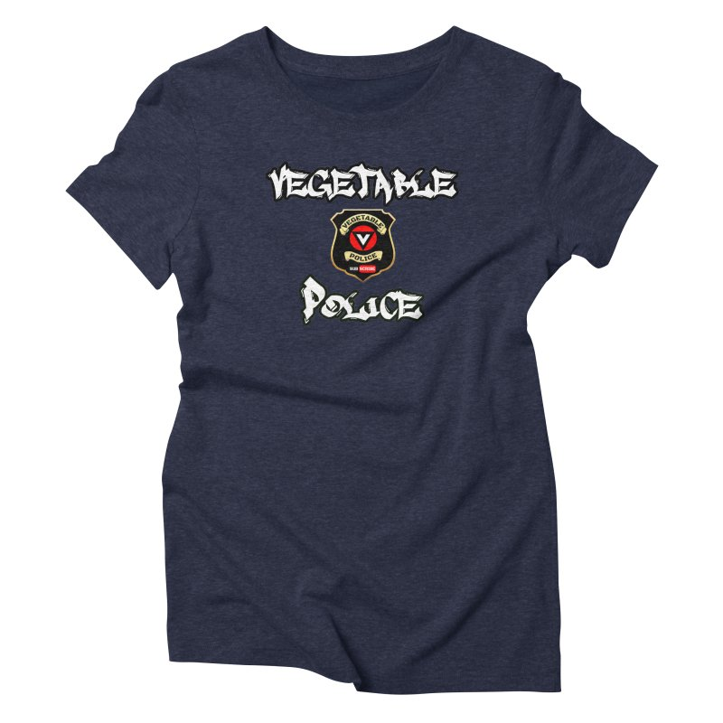 Vegetable Police Undercover (white) Women's Triblend T-Shirt by Vegetable Police