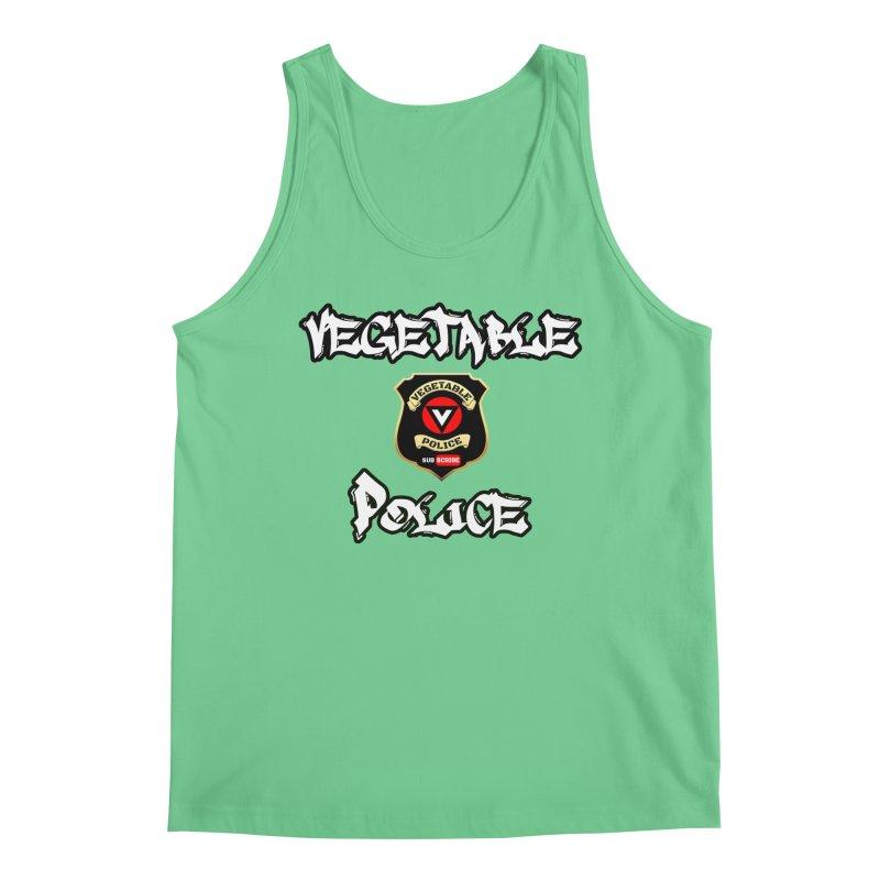 Vegetable Police Undercover (white) Men's Regular Tank by Vegetable Police
