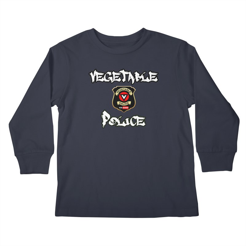 Vegetable Police Undercover (white) Kids Longsleeve T-Shirt by Vegetable Conspiracies