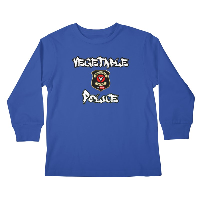 Vegetable Police Undercover (white) Kids Longsleeve T-Shirt by Vegetable Police