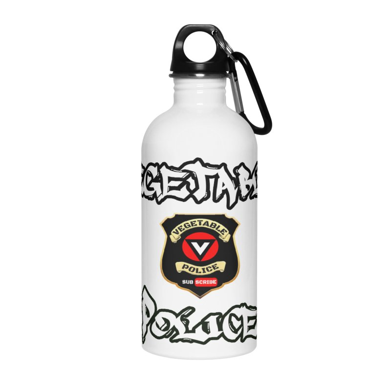 Vegetable Police Undercover (white) Accessories Water Bottle by Vegetable Police