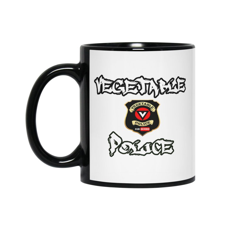 Vegetable Police Undercover (white) Accessories Mug by Vegetable Police