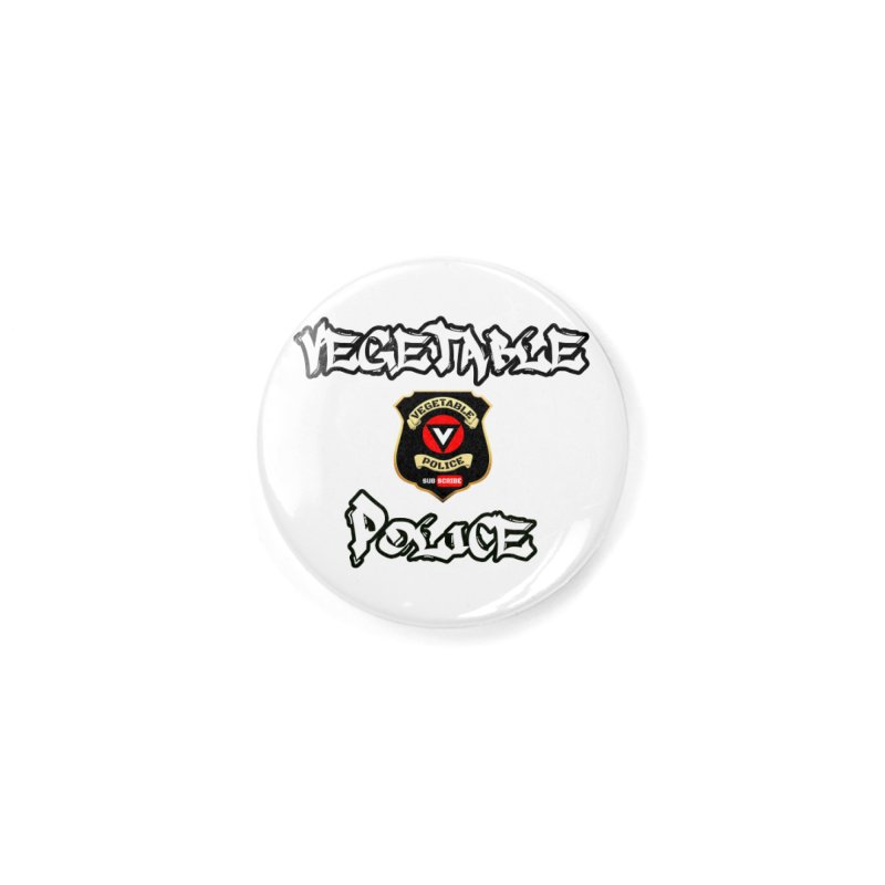 Vegetable Police Undercover (white) Accessories Button by Vegetable Police