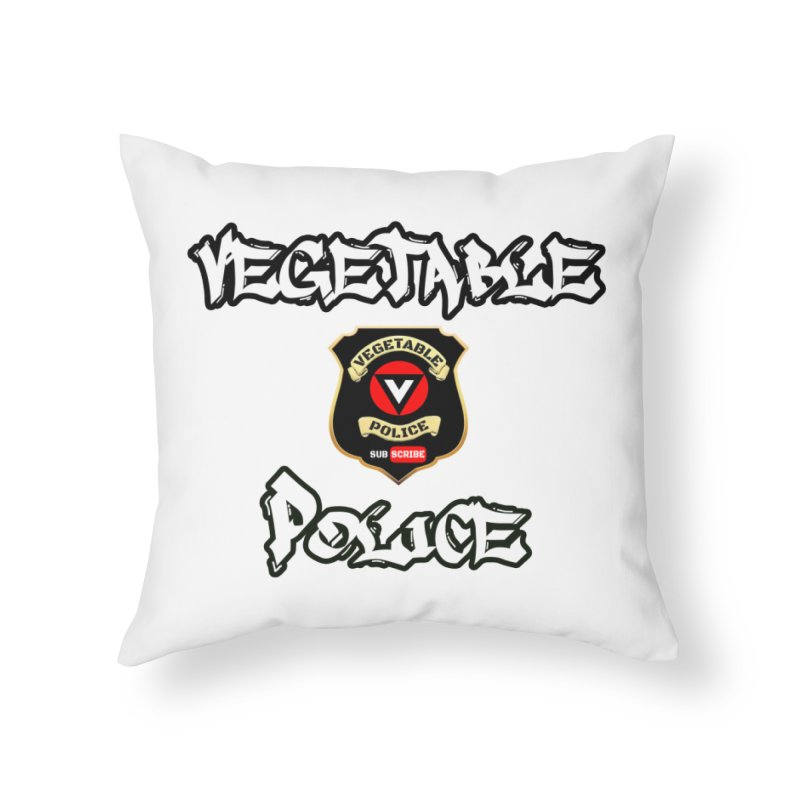 Vegetable Police Undercover (white) Home Throw Pillow by Vegetable Police