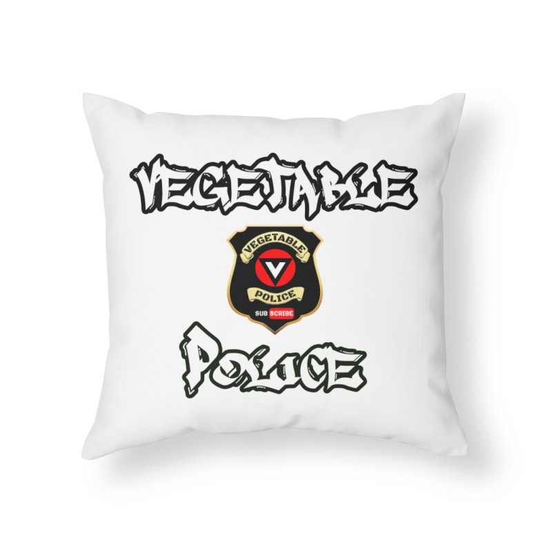 Vegetable Police Undercover (white) Home Throw Pillow by Vegetable Conspiracies