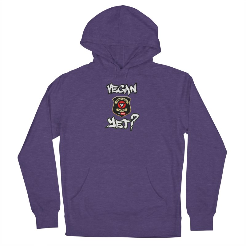 Vegan Yet? Men's Pullover Hoody by Vegetable Police