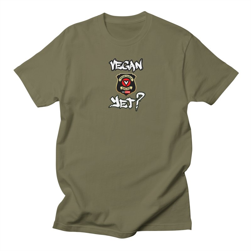 Vegan Yet? Men's T-Shirt by Vegetable Police