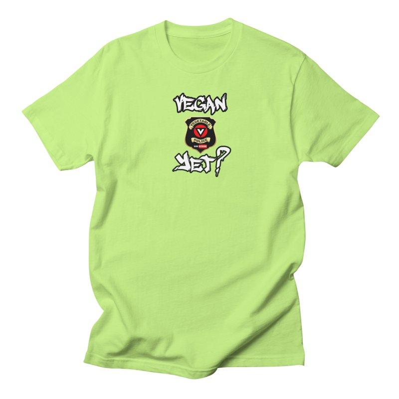 Vegan Yet? Women's Unisex T-Shirt by Vegetable Police