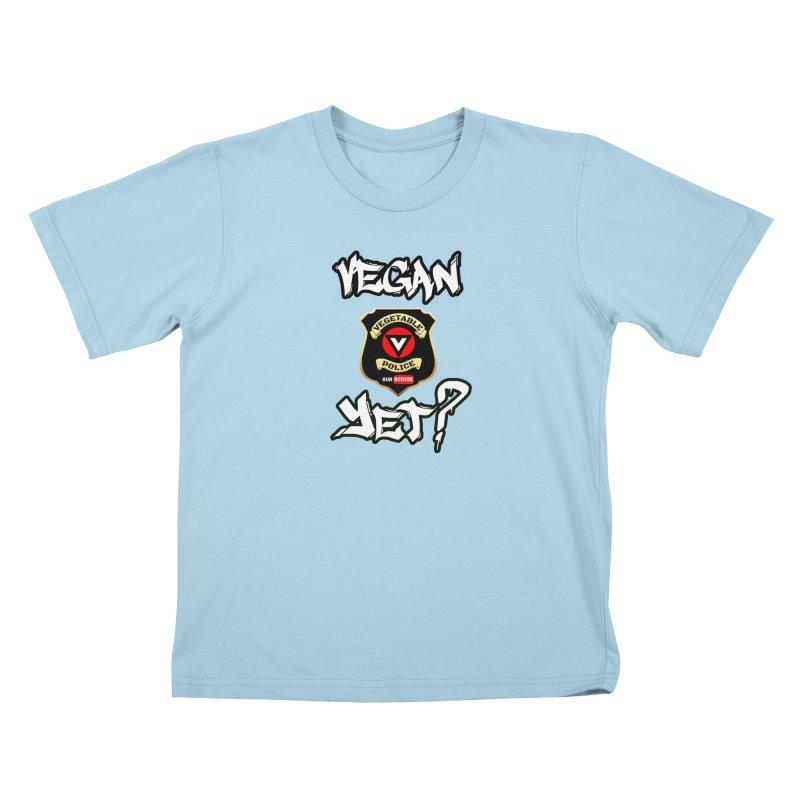 Vegan Yet? Kids T-Shirt by Vegetable Police