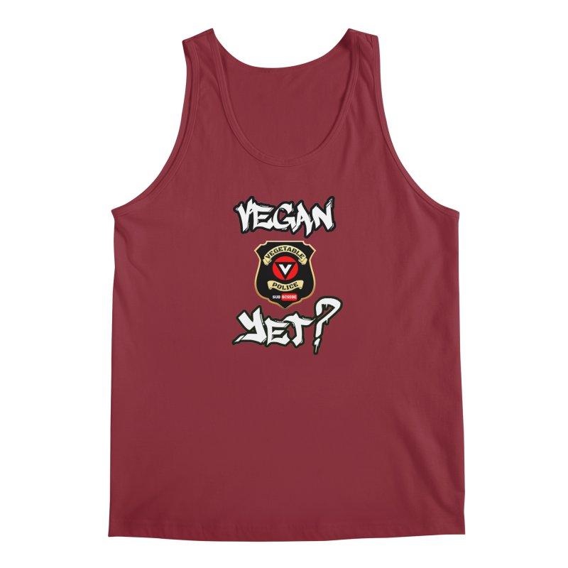 Vegan Yet? Men's Tank by Vegetable Police