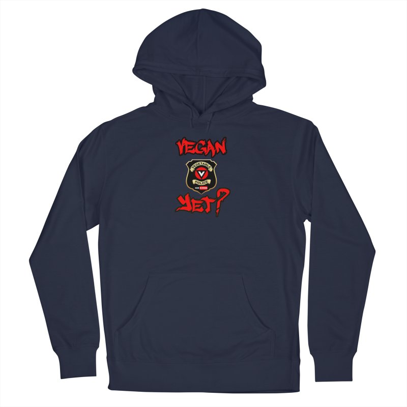 Vegan Yet? (red) Men's Pullover Hoody by Vegetable Police