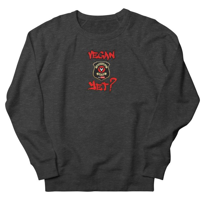 Vegan Yet? (red) Women's Sweatshirt by Vegetable Police