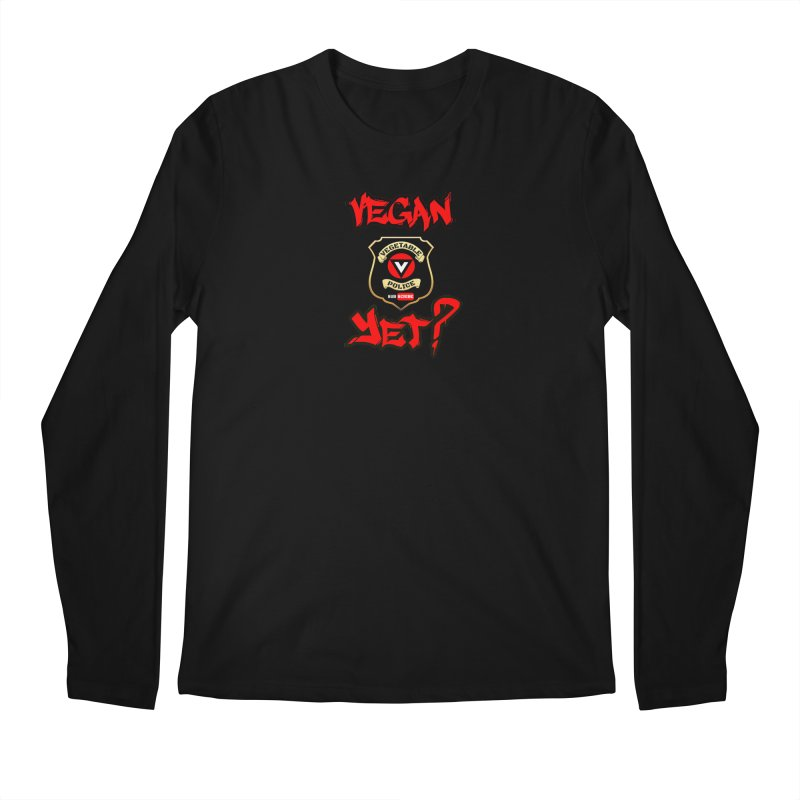 Vegan Yet? (red) Men's Regular Longsleeve T-Shirt by Vegetable Police