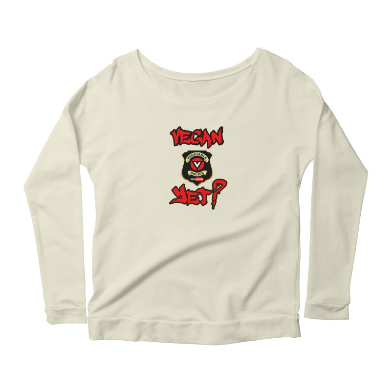Vegan Yet? (red) Women's Longsleeve T-Shirt by Vegetable Police