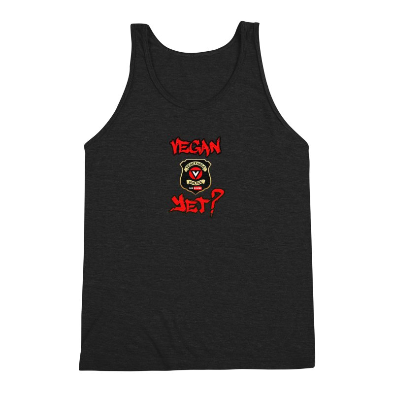 Vegan Yet? (red) Men's Tank by Vegetable Police