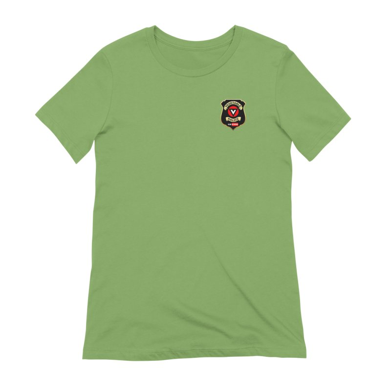 Vegetable Police (just badge) Women's Extra Soft T-Shirt by Vegetable Police