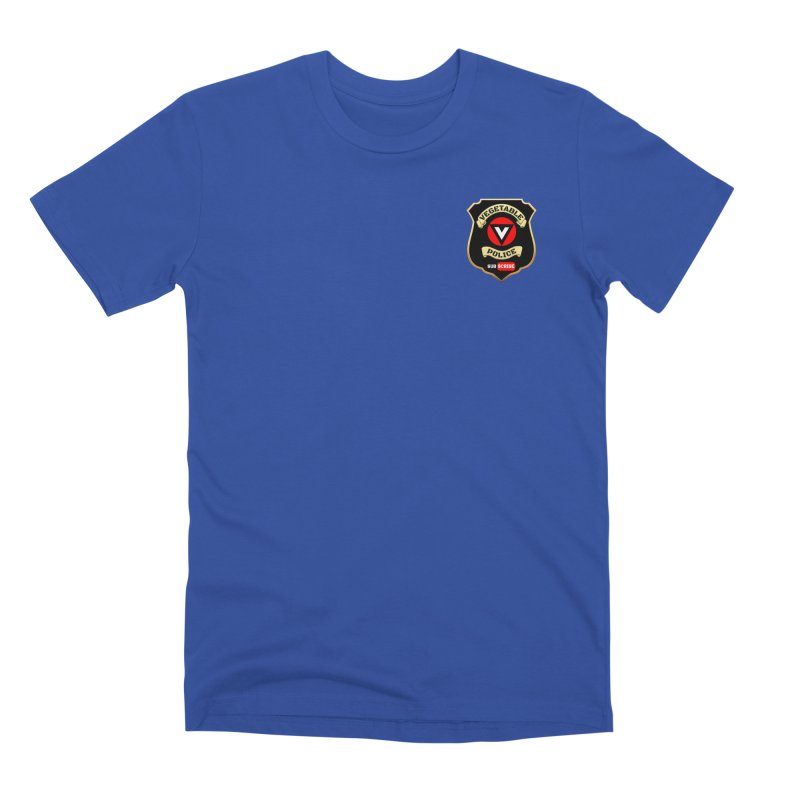 Vegetable Police (just badge) Men's T-Shirt by Vegetable Conspiracies