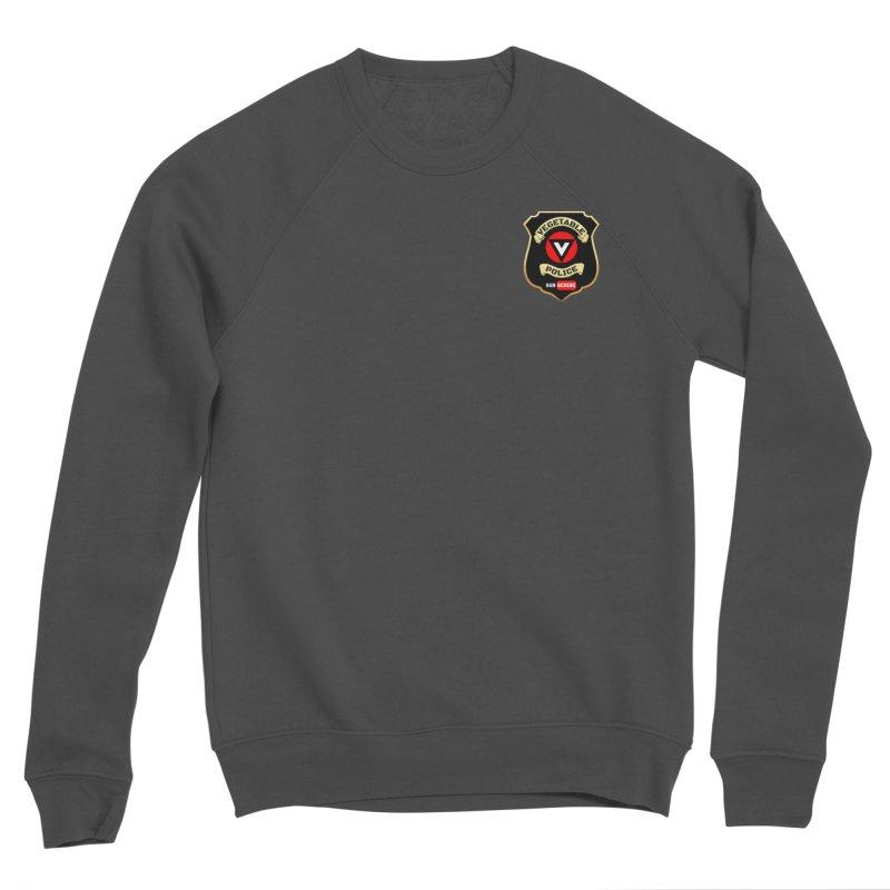 Vegetable Police (just badge) Men's Sponge Fleece Sweatshirt by Vegetable Police