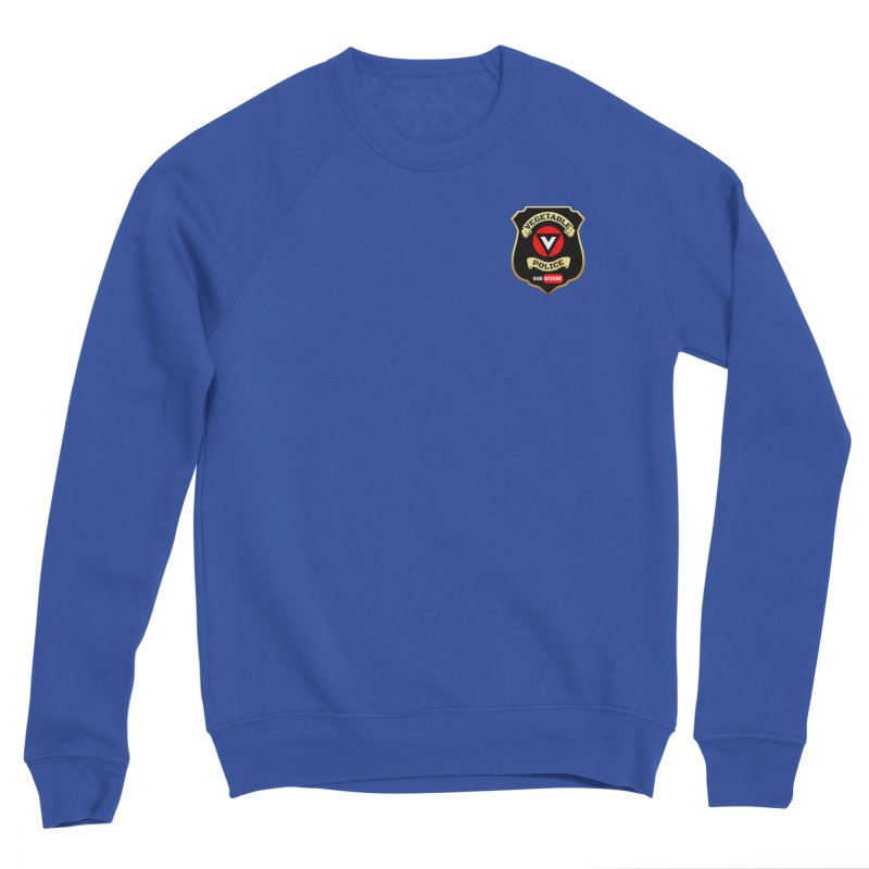 Vegetable Police (just badge) Men's Sweatshirt by Vegetable Conspiracies