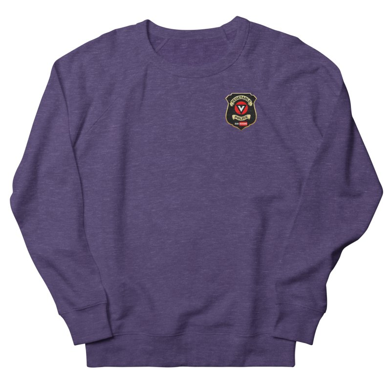 Vegetable Police (just badge) Women's French Terry Sweatshirt by Vegetable Police