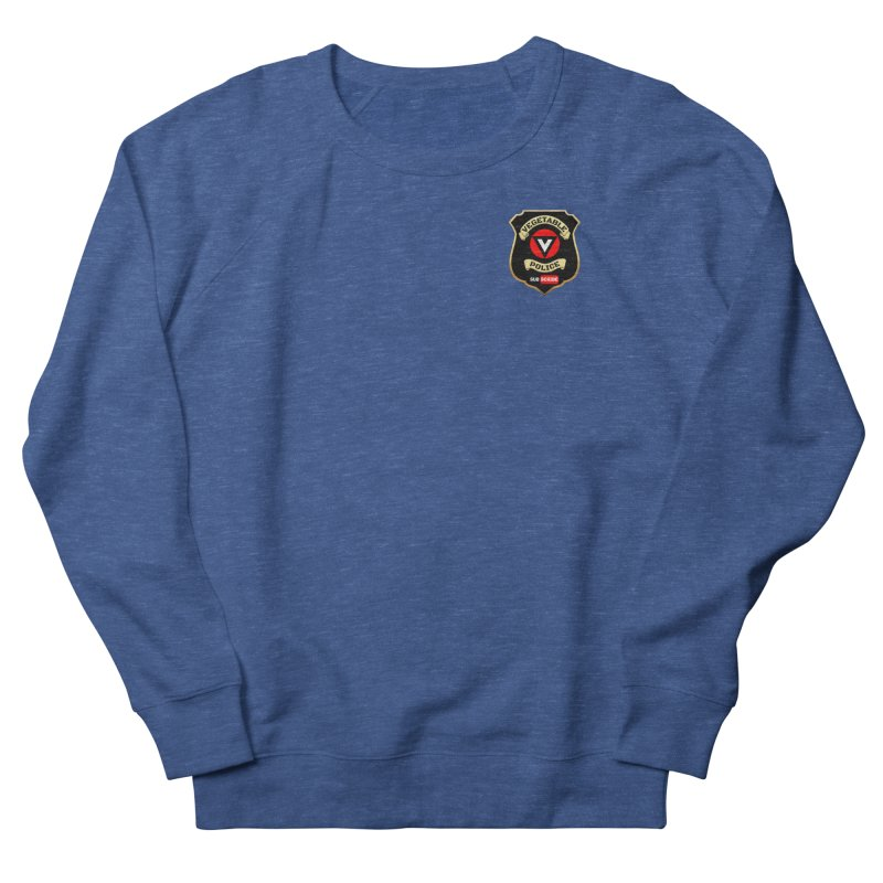 Vegetable Police (just badge) Men's French Terry Sweatshirt by Vegetable Police