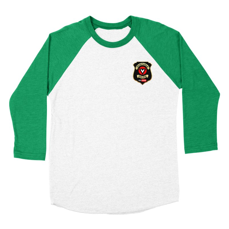 Vegetable Police (just badge)  Men's Baseball Triblend T-Shirt by Vegetable Police