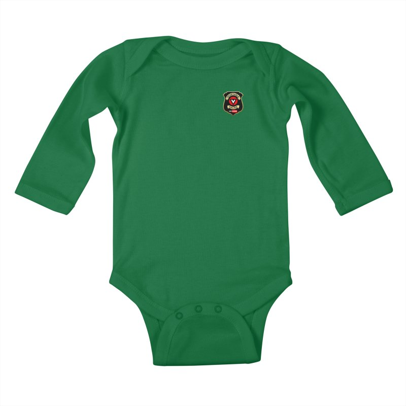Vegetable Police (just badge) Kids Baby Longsleeve Bodysuit by Vegetable Police