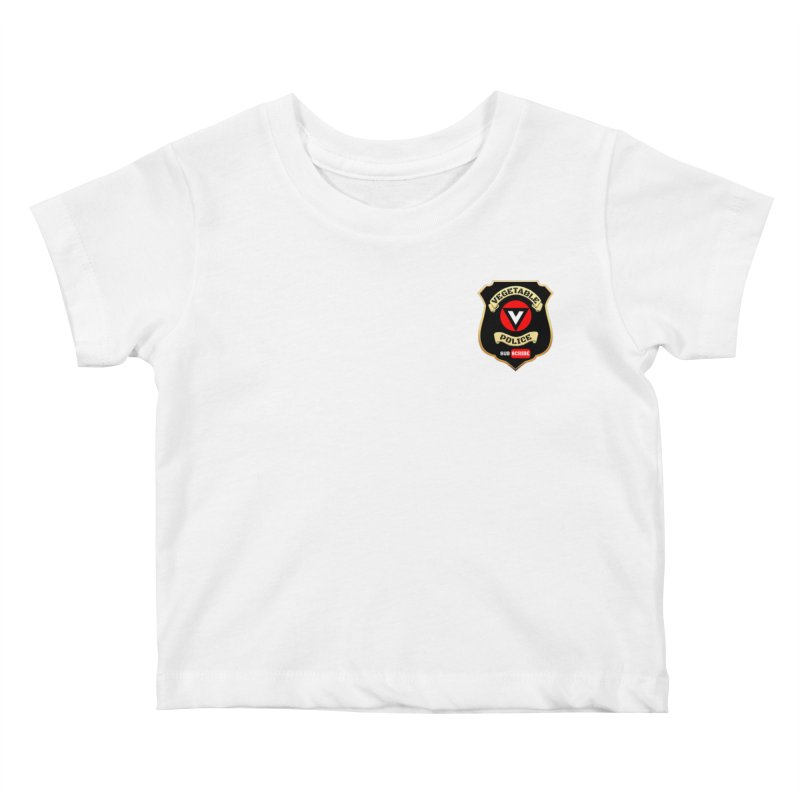 Vegetable Police (just badge) Kids Baby T-Shirt by Vegetable Conspiracies