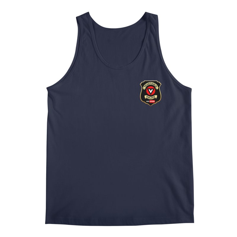 Vegetable Police (just badge) Men's Tank by Vegetable Conspiracies
