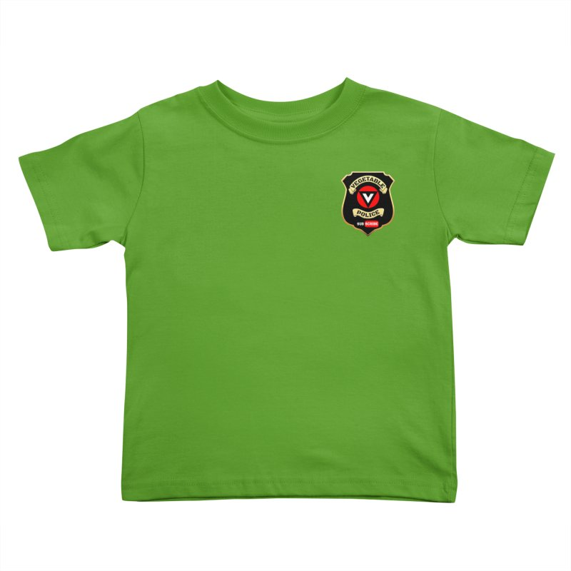Vegetable Police (just badge) Kids Toddler T-Shirt by Vegetable Conspiracies