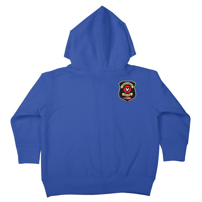 Vegetable Police (just badge) Kids Toddler Zip-Up Hoody by Vegetable Police