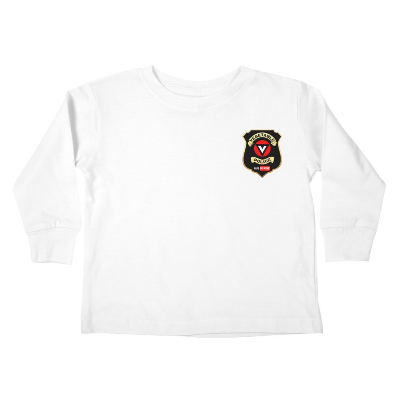 Vegetable Police (just badge) Kids Toddler Longsleeve T-Shirt by Vegetable Police