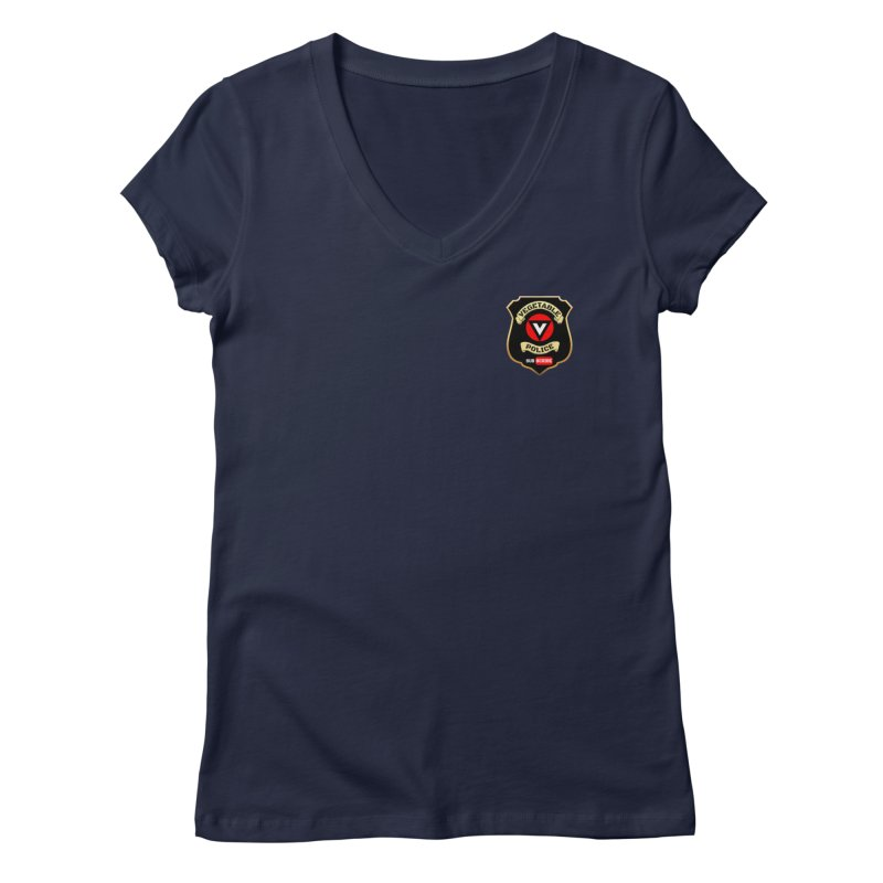 Vegetable Police (just badge) Women's V-Neck by Vegetable Police