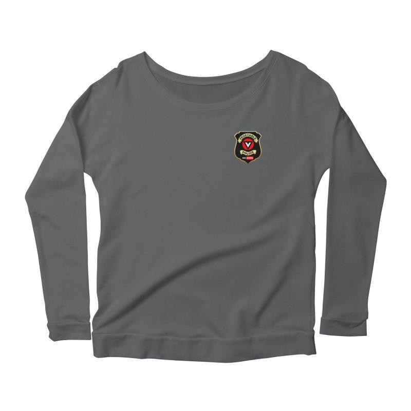 Vegetable Police (just badge) Women's Scoop Neck Longsleeve T-Shirt by Vegetable Police