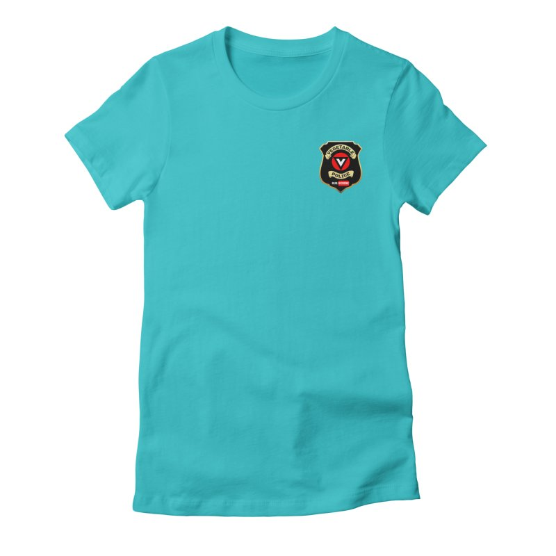 Vegetable Police (just badge)  Women's Fitted T-Shirt by Vegetable Police