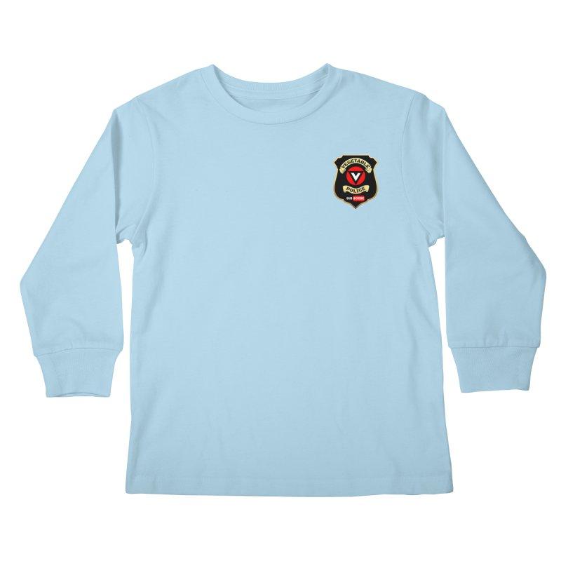 Vegetable Police (just badge)  Kids Longsleeve T-Shirt by Vegetable Police