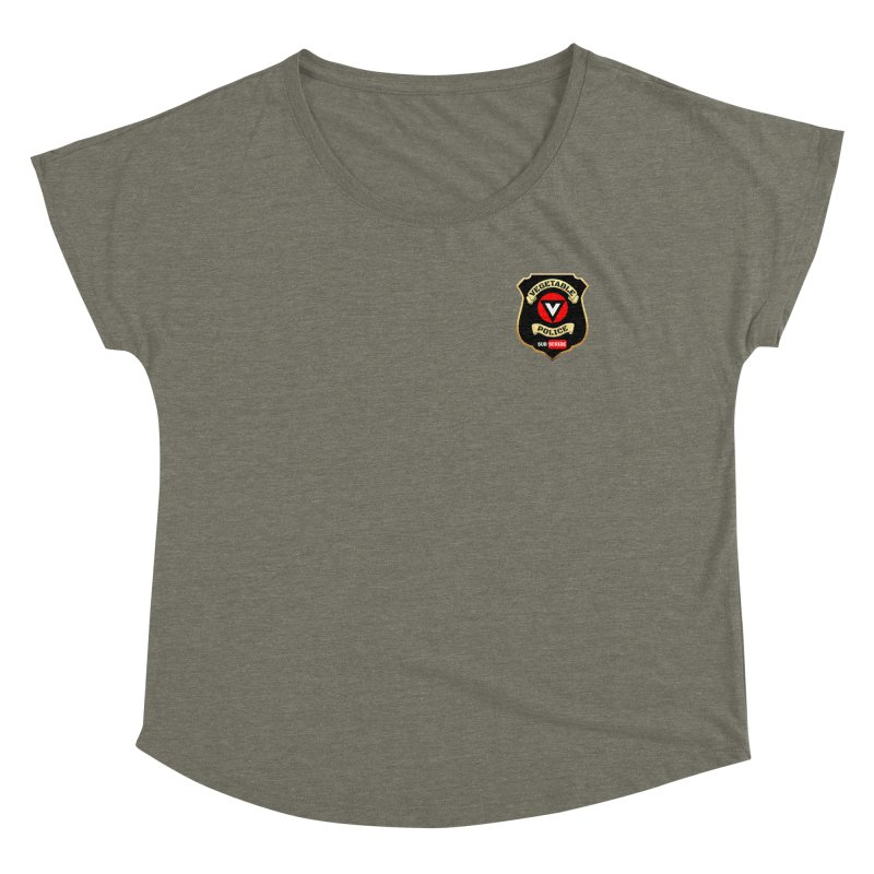 Vegetable Police (just badge) Women's Scoop Neck by Vegetable Conspiracies